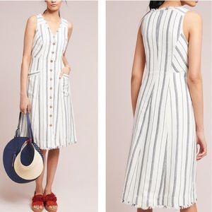 Anthropologie Maeve Leslie Textured Stripe Dress 4